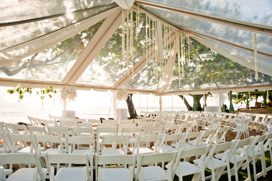 Wedding Ceremony Tent on Hanalei Bay