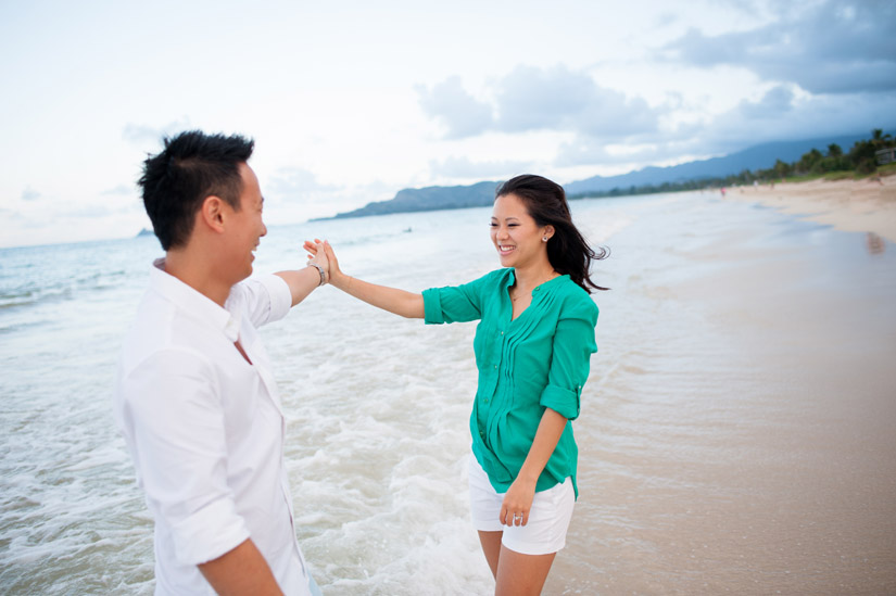Kailua Beach Engagement Portrait Session