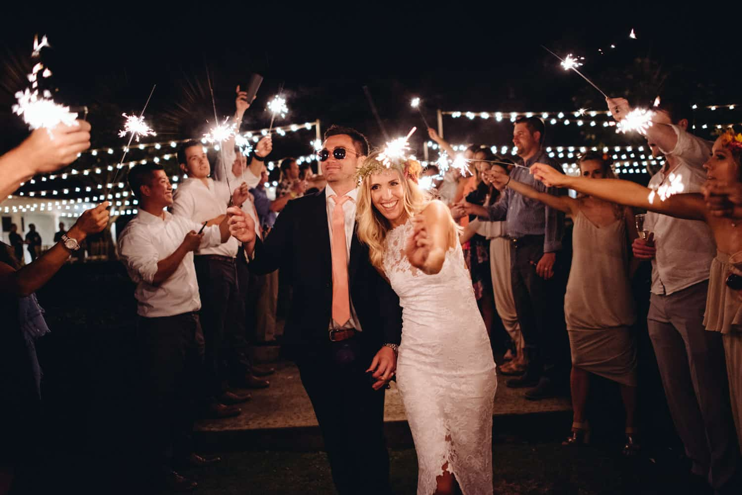 Wedding Reception Sparkler Send Off